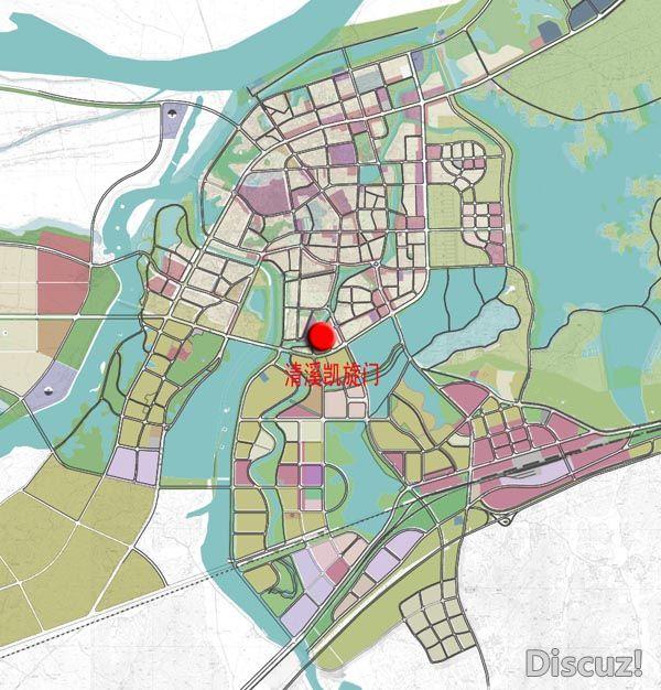 清溪凯旋门规划建筑设计方案批前公示 高清图片