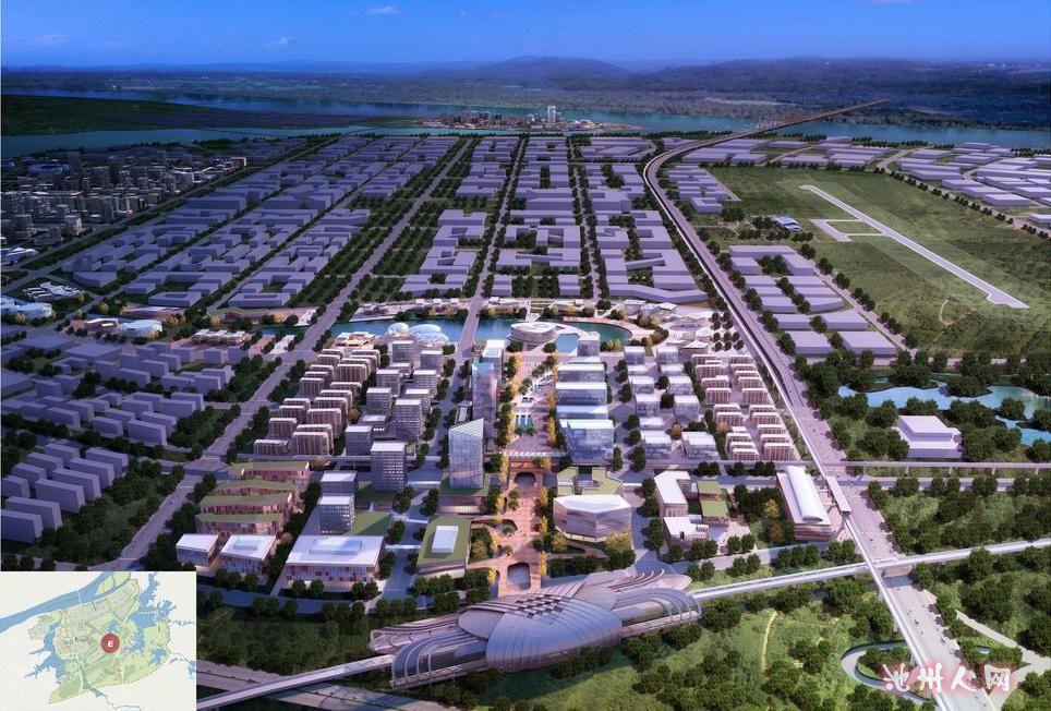江南产业集中区规划效果图 池州民声 池州人论坛 chizhouren