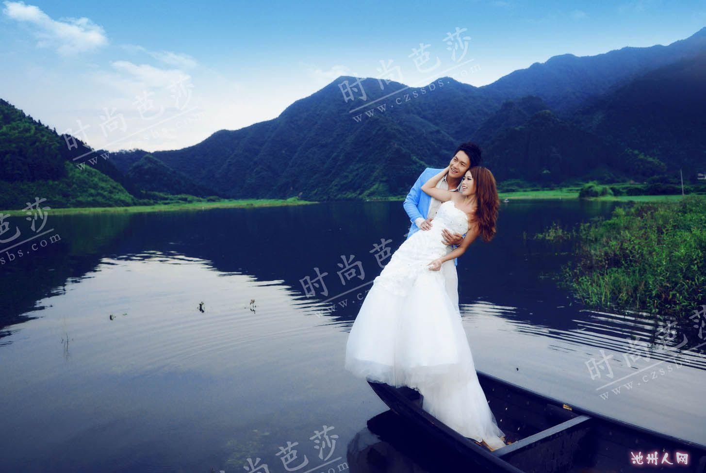 太平湖美景配佳人 旅游户外 1455