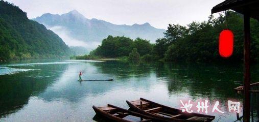 古代竹筏素材
