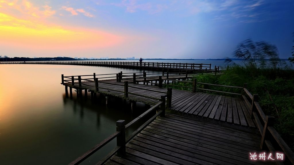 最美赏月地——池州平天湖
