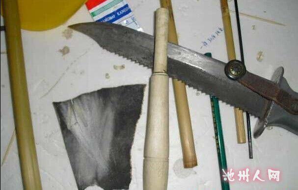 制作竹子鱼竿
