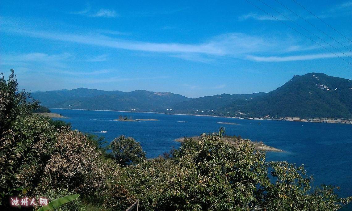 安慶太湖花亭湖西風古洞二祖道場風光