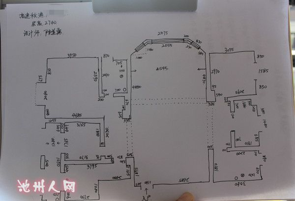 量房詳細尺寸圖室內