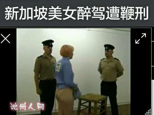 新加坡美女醉驾受鞭刑